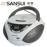 福利品-SANSUI山水CD/MP3/USB/AUX手提式音響(SB-86N)