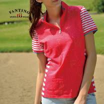 【FANTINO】女款 舒適運動65支雙特光純棉衫(紅.藍) 371201-371202