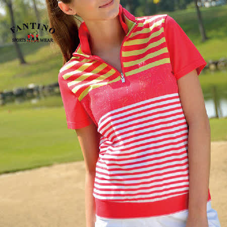 【FANTINO】女款 舒適運動65支雙特光純棉衫(綠.紅) 371203-371204