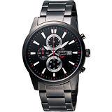 ORIENT 都會計時運動風SP腕錶-IP黑 FTT12001B