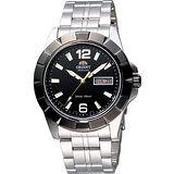 ORIENT 東方傳奇霸氣機械腕錶-黑/銀 FEM7L002B