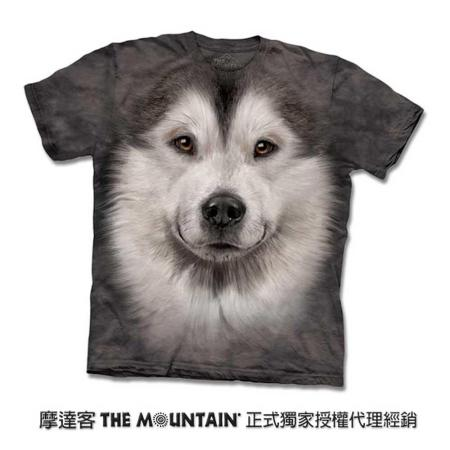 『摩達客』(預購)美國進口【The Mountain】自然純棉系列 哈士奇雪橇犬臉 設計T恤 (兒童尺寸)