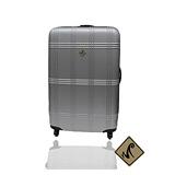 Miyoko☀經典方格紋系列 20吋輕硬殼行李箱-銀色