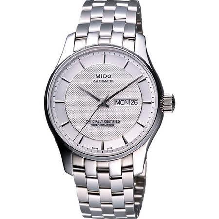 MIDO Belluna II Gent 經典時尚機械腕錶-銀白 M0014311103192