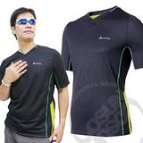 【瑞士 ODLO】男 V領短袖透氣排汗衫.抗UV .快速排汗.透氣.輕量化/黑 346132 B
