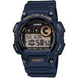 CASIO 靜音振動數位電子腕錶(藍)