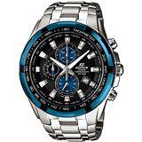 CASIO EDIFICE 勁速戰將計時賽車錶(黑+藍)