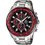 CASIO EDIFICE 勁速戰將計時賽車錶(黑+紅)