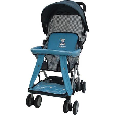 湯尼熊 Tony Bear 可揹式嬰兒三用揹架推車(藍/紅)