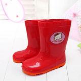 【童鞋城堡】Hello kitty三麗鷗限量日系清新小icon雨鞋{台灣製造}713442