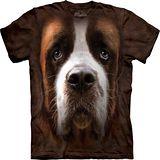 『摩達客』*大尺碼3XL*美國進口【The Mountain】自然純棉系列 聖伯納犬臉 設計T恤 (預購)