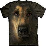 『摩達客』*大尺碼3XL*美國進口【The Mountain】自然純棉系列 德國狼犬臉 設計T恤 (預購)