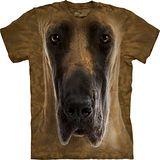 『摩達客』*大尺碼3XL*美國進口【The Mountain】自然純棉系列 大丹狗臉設計T恤 (預購)