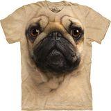 『摩達客』*大尺碼3XL*美國進口【The Mountain】自然純棉系列 巴哥犬設計T恤 (預購)