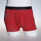 LACOYA 竹炭男性平口褲(變形格紋-紅)*3件