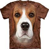 『摩達客』*大尺碼3XL*美國進口【The Mountain】自然純棉系列 米格魯犬臉設計T恤 (預購)