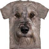 『摩達客』*大尺碼3XL*美國進口【The Mountain】自然純棉系列 雪納瑞犬臉設計T恤 (預購)