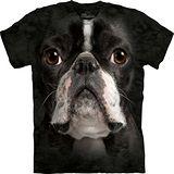 『摩達客』*大尺碼3XL*美國進口【The Mountain】自然純棉系列 波士頓梗犬臉設計T恤 (預購)
