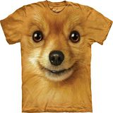 『摩達客』*大尺碼3XL*美國進口【The Mountain】自然純棉系列 博美犬臉設計T恤 (預購)