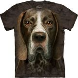 『摩達客』*大尺碼3XL*美國進口【The Mountain】自然純棉系列 德國短毛指示犬臉 設計T恤 (預購)