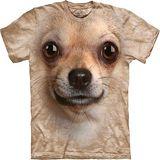 『摩達客』*大尺碼3XL*美國進口【The Mountain】自然純棉系列 吉娃娃犬臉設計T恤 (預購)