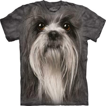『摩達客』*大尺碼3XL*美國進口【The Mountain】自然純棉系列 獅子狗犬臉設計T恤 (預購)