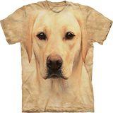 『摩達客』*大尺碼3XL*美國進口【The Mountain】自然純棉系列 黃拉不拉多犬臉設計T恤 (預購)