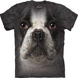 『摩達客』*大尺碼3XL*美國進口【The Mountain】自然純棉系列 法國鬥牛犬臉設計T恤 (預購)