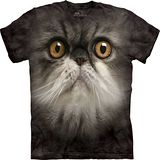 『摩達客』*大尺碼3XL*美國進口【The Mountain】自然純棉系列 可愛毛貓臉 設計T恤 (預購)