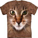 『摩達客』*大尺碼3XL*美國進口【The Mountain】自然純棉系列 斑紋貓臉設計T恤 (預購)