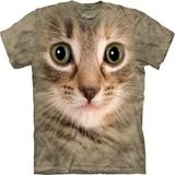 『摩達客』*大尺碼3XL*(預購)美國進口【The Mountain】自然純棉系列 小貓臉設計T恤