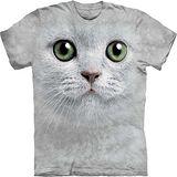 『摩達客』*大尺碼3XL*美國進口【The Mountain】自然純棉系列 綠眼貓臉設計T恤 (預購)