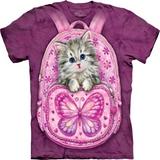 『摩達客』*大尺碼3XL*(預購)美國進口【The Mountain】自然純棉系列 背包貓設計T恤