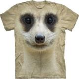 『摩達客』*大尺碼3XL*(預購)美國進口【The Mountain】自然純棉系列 貓鼬臉設計T恤