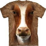 『摩達客』*大尺碼3XL*(預購)美國進口【The Mountain】自然純棉系列 哞牛設計T恤