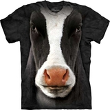 『摩達客』*大尺碼3XL*(預購)美國進口【The Mountain】自然純棉系列 黑牛臉設計T恤