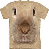 『摩達客』*大尺碼3XL*(預購)美國進口【The Mountain】自然純棉系列 小兔臉設計T恤