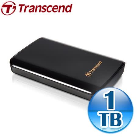 創見 SJ25D3 1TB USB3.0 2.5吋黑曜鏡面防震硬碟