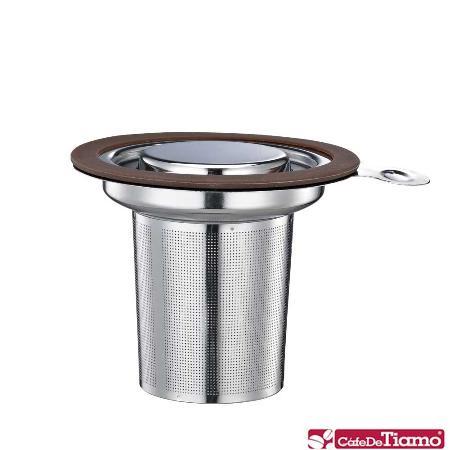 Tiamo 1307 不鏽鋼蓋濾網組【咖啡色】HG1751 BW