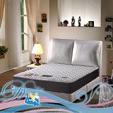 睡夢精靈 花語系 紫羅蘭高透氧柔軟型獨立筒床墊雙人加大