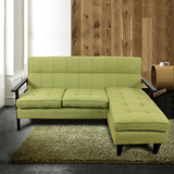 AHOME Capri卡布里木作布沙發(3人座+腳凳)-二色