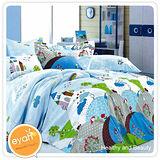 【eyah】幸福預兆-純棉雙人加大3件式床包組