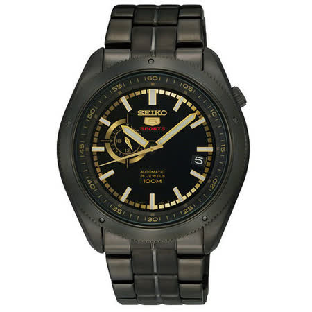 SEIKO 4R37 偏心時尚機械腕錶-IP黑 4R37-00G0SD