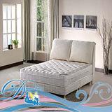 睡夢精靈 森林系 天堂鳥鑽石級乳膠三線獨立筒床墊雙人5尺