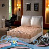睡夢精靈 大地系 大理石白金級護背硬式彈簧床墊 雙人加大
