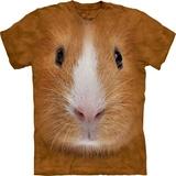 『摩達客』*大尺碼3XL*(預購)美國進口【The Mountain】自然純棉系列 天竺鼠臉設計T恤
