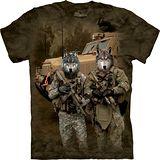 『摩達客』*大尺碼3XL*美國進口【The Mountain】自然純棉系列 JTAC狼軍隊設計T恤 (預購)