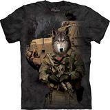 『摩達客』*大尺碼3XL*美國進口【The Mountain】自然純棉系列 JTAC孤狼設計T恤 (預購)