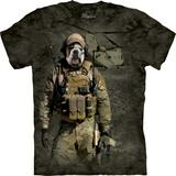 『摩達客』*大尺碼3XL*(預購)美國進口【The Mountain】自然純棉系列 JTAC戰狗設計T恤