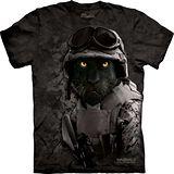 『摩達客』*大尺碼3XL*美國進口【The Mountain】自然純棉系列 迷彩黑豹設計T恤 (預購)